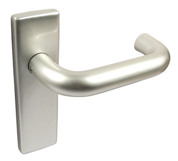 Lever Handles, on Backplates for Latch, Ø 20 mm, Aluminium