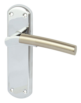 Lever Handles, on Backplates for Latch, Zinc Alloy, Arkles