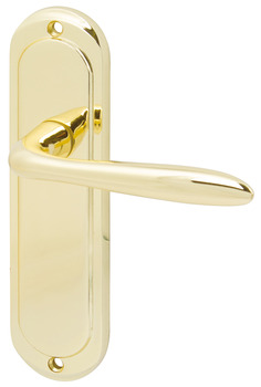 Lever Handles, on Backplates for Latch, Zinc Alloy, Mocho