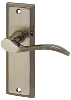 Lever Handles, on Backplates for Latch, Zinc Alloy, Talladega