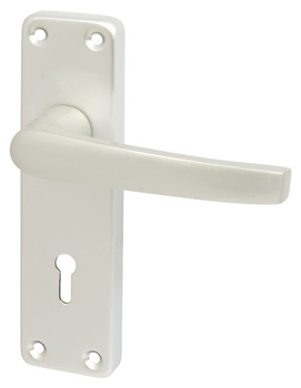 Lever Handles, on Backplates for Lever Latch, 152 mm, Contract