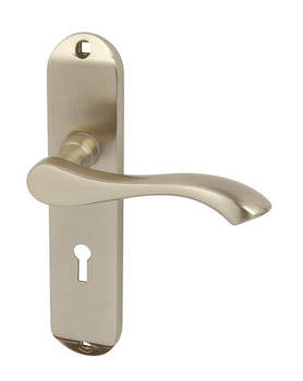 Lever Handles, on Backplates for Lever Latch, Zinc Alloy, Welford