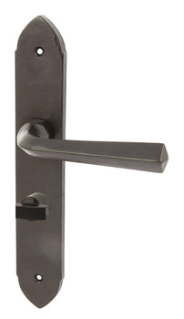 Lever Handles, on Backplates, Malleable Iron, Grafton