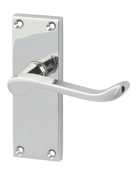 Lever Handles, Scroll, Latch Pack, Brass