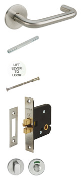 Lever Handles Set, Indicator and Lock for Disabled Toilet Doors