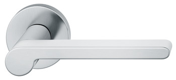 Lever Handles, Set, on Round Roses, 304 Stainless Steel, FSB ASL® 1021