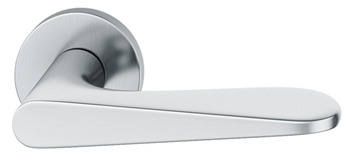 Lever Handles, Set, on Round Roses, 304 Stainless Steel, FSB ASL® 1144