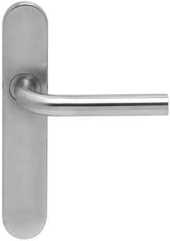 Lever Handles, Shaped, on Backplates, 304 Stainless Steel, Boda, Startec