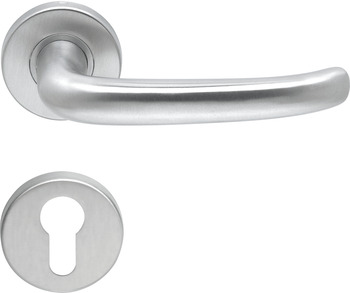 Lever Handles, Shaped, on Round Roses, 304 Stainless Steel, Fame, Startec