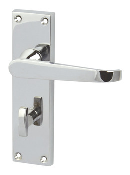 Lever Handles, Straight, Bathroom Pack, Brass