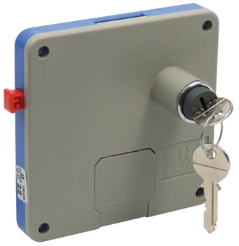 Locker Lock, Coin Operated, for Dry Areas, ABS Housing, Brass Nickel Barrel