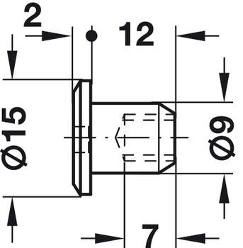 M6 Sleeve Nut, with SW4 Hexagon Socket, Steel