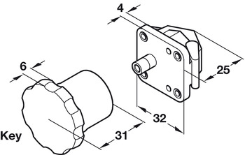 Magnetic Lock System, Patented, Safe-Fix