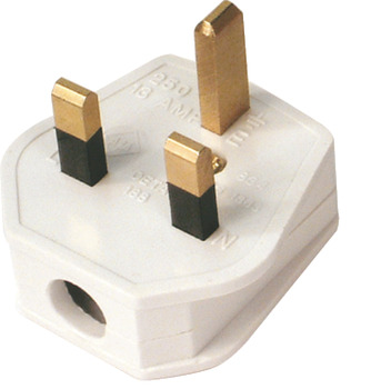 Mains Plug, 3 Pin, with 13 Amp Fuse