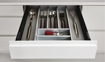 Matrix Box P Standard Drawer Packed Set, 35/50 kg, 92 mm High, White