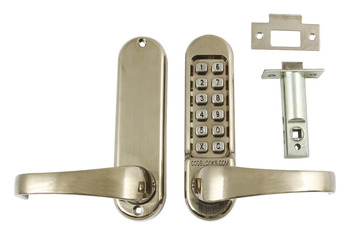 Mechanical Codelock Plates, Front and Back, for Existing Mortice Lockcase, Heavy Duty
