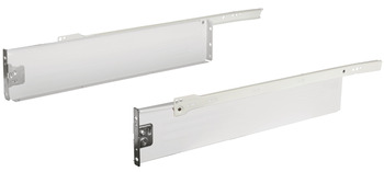 Metal Drawer Sides, Single Walled, 150 mm High, White, Häfele Matrix Box Single