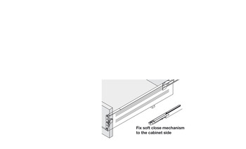 Metal Drawer Sides, Single Walled, with Self Closing Runners, Steel
