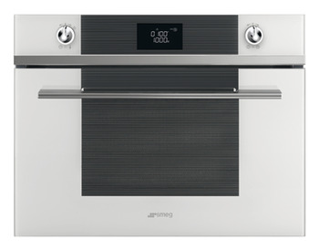 Microwave Oven, Compact with Grill, Smeg Linea