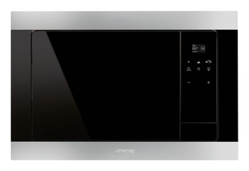 Microwave Oven, with Electric Grill, Finger Friendly, Depth 320mm, Smeg Classic