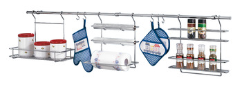 Midway Railing Set, Includes 1500 mm Railing, Supports, S Hooks, Rack and Holders