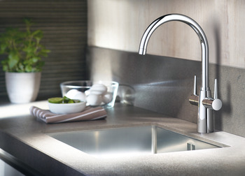 Mixer Tap, Dual Lever Monobloc, Grohe Ambi Contemporary