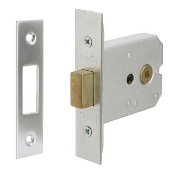 Mortice Bathroom Deadbolt, Box, Deadbolt Operated by Turn/Emergency Release
