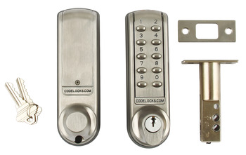 Mortice Codelock, Deadbolt, Electronic, Medium Duty, Steel
