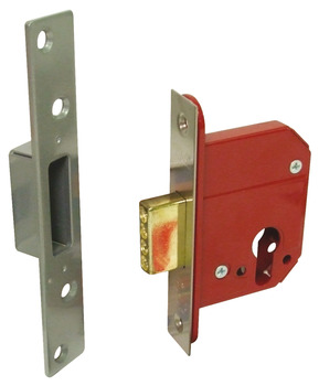 Mortice Deadlock, Lock Case Only, Steel and Zinc Alloy