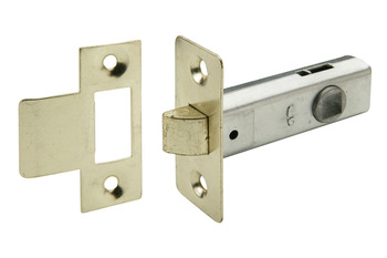 Mortice Latch, Tubular, Economy, Latchbolt Operated by Lever Handles, Steel