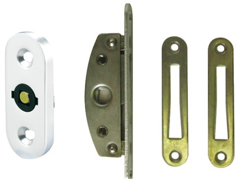 Mortice Lock and Escutcheon, Captive Key, Budget, Steel and Aluminium