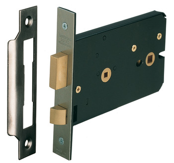 Mortice Lock, Horizontal, Bathroom, Latchbolt Operated by Knobs, Deadbolt by Turn/Release