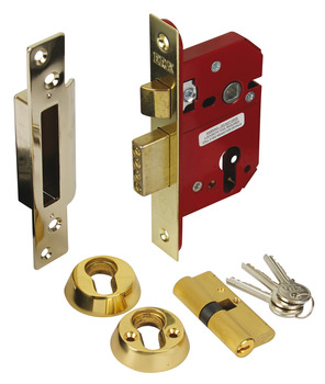 Mortice Sashlock, Security Cylinder, Steel and Zinc Alloy