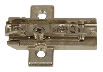 Mounting Plate, Cruciform, 2 Point Fixing, for Tiomos Click On Hinges