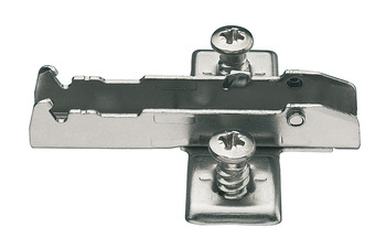 Mounting Plate, Econ Cruciform, 3 Point Fixing, Pre-Mounted Euro Screw Fixing, for Tiomos Click On System Hinges