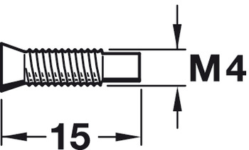 Mounting Screw, with M4 Internal Thread