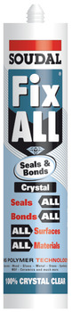 Ms Polymer, Seals and Bonds Sealant and Adhesive, Tube 290 ml, Fix All Crystal