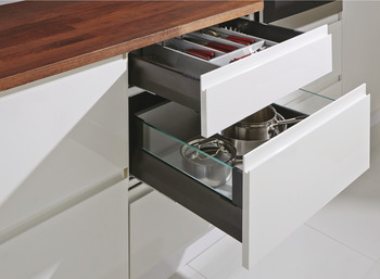MX Standard Drawer Set, 50 kg, 92 mm High, White