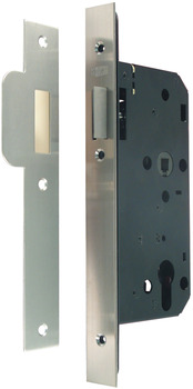 Night Latch Case, Mortice Cylinder, Case Size 84 mm, Standard Continental Style