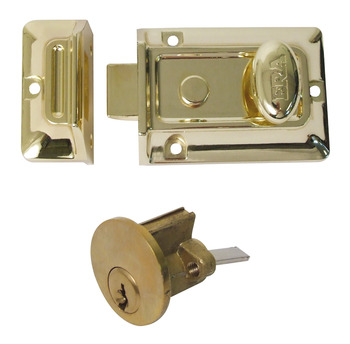 Nightlatch, Traditional Rim, Key from Outside, Knob from Inside, Zinc Alloy and Brass