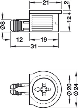 OneFix One-Part Connector With Pre-Mounted Bolt High Quality Plastic