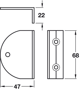 Open Sided Brackets, Cubicle Fittings