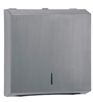 Paper Towel Dispenser, for Wall Mounting, Grade 304 Stainless Steel