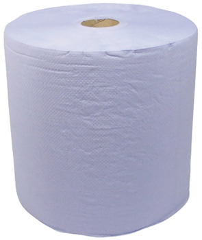 Paper Wipe Roll, for Floorstand, 2x 343 m Rolls, Blue