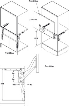 Parallel Lift Up Fitting, for Lifting Panels used on Tall Units