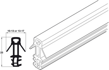 Parting Bead, for Timber Sash Windows, Plastic