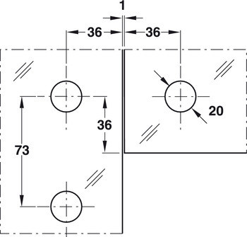 Patch Fitting, Fanlight/Side Panel Connection Fitting for Single Doors, Startec