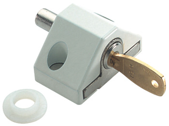 Patio Door Lock, Width 46 mm, Steel and Brass