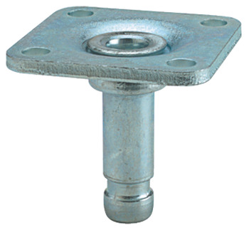 Pin for Castors, Ø 10 mm, with 38 mm Mounting Plate