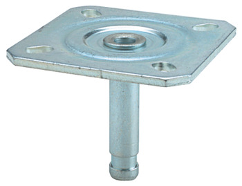 Pin for Castors, Ø 11 mm, with 65 mm Mounting Plate